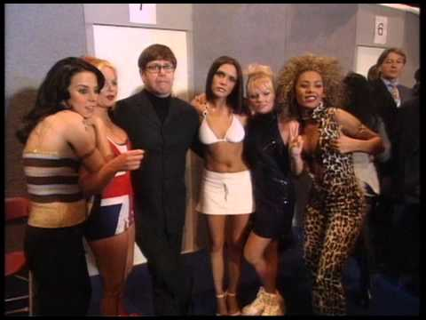 Zoe Ball s Spice Girls after their win  BRIT Awards 1997