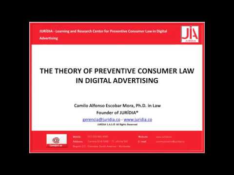 Conference video The theory of preventive consumer law in digital advertising