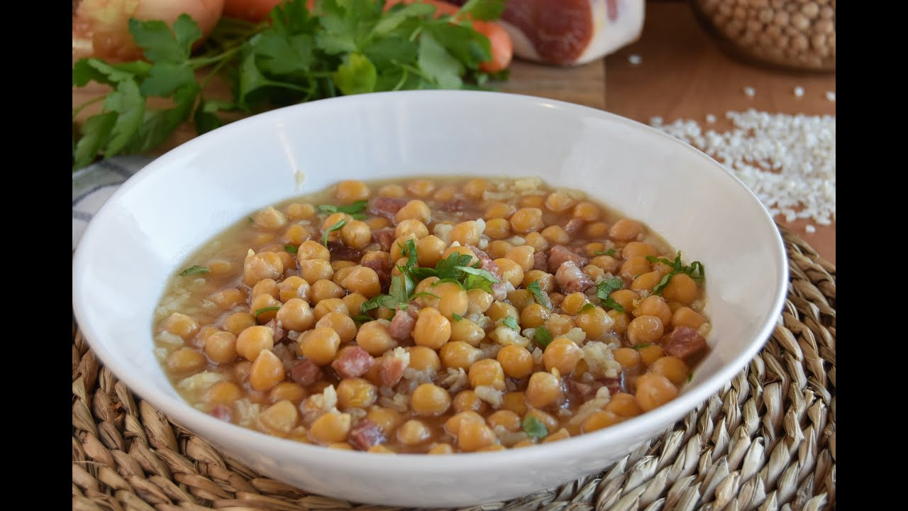 Garbanzos con arroz y jamón/ RECETAS FÁCILES