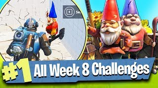 Fortnite WEEK 8 CHALLENGES Guide (Hungry Gnomes Locations) - Fortnite Battle Royale