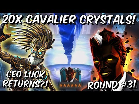 20x 6 Star Warlock Cavalier Featured Crystal Opening Round #3! - Marvel Contest of Champions
