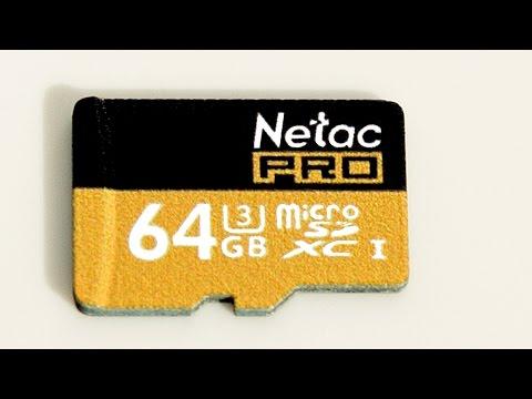 Netac P500 64GB Micro SDXC Memory Card UHS I U3 Black Unboxing and speed test
