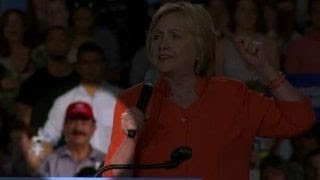 Peculiar background optics for Clinton in Orlando
