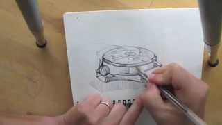 How to draw a Watch - Product Design Sketching.