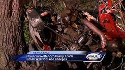 Driver in Wolfeboro dump truck crash will not face charges
