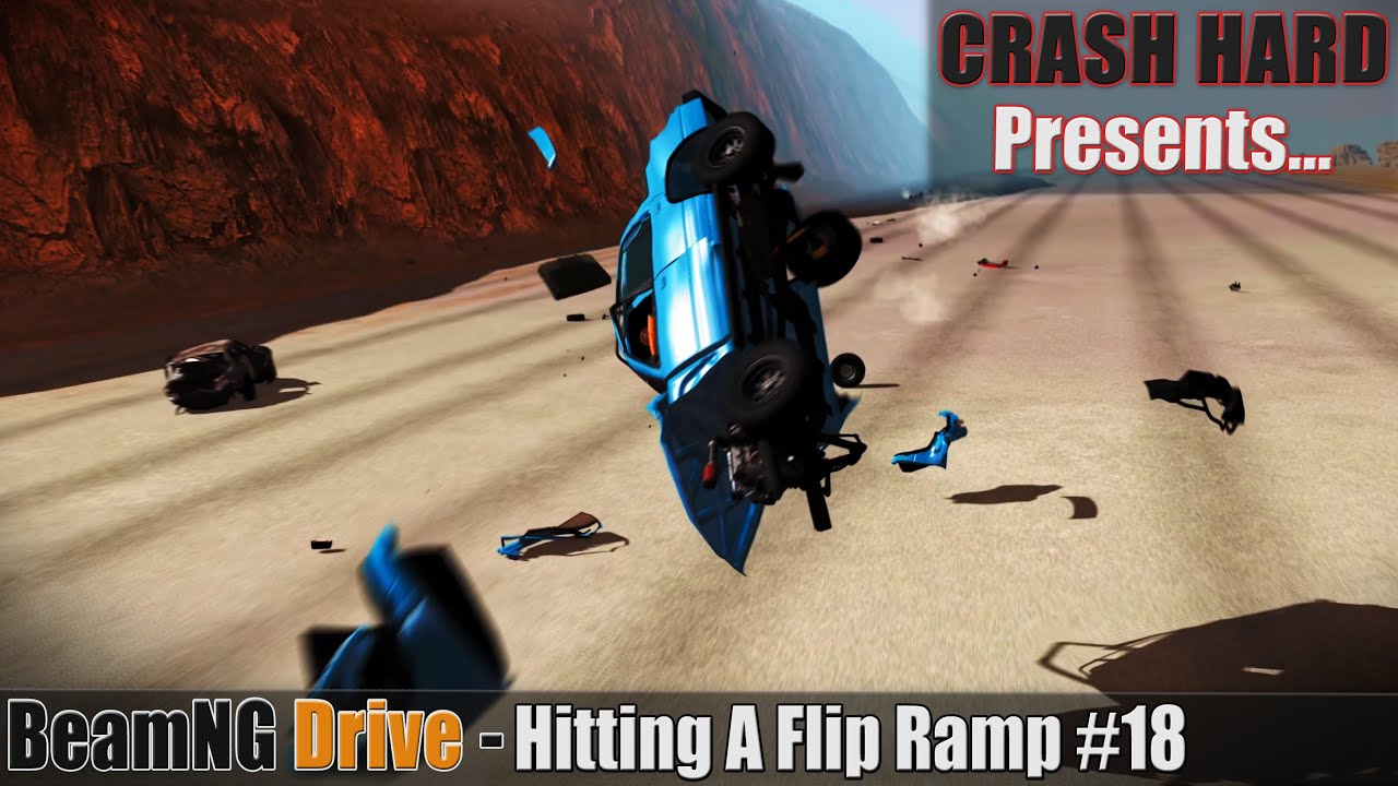BeamNG Drive - Hitting A Flip Ramp #18