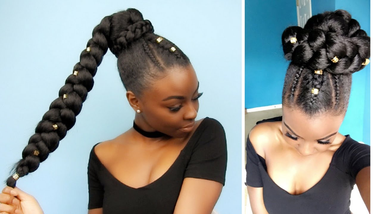 Side Pony | Jumbo Braid | Protective Style - YouTube