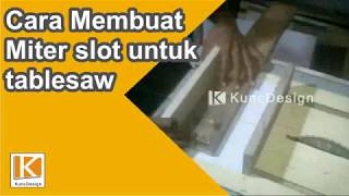 How to make Mini mitreslot for tablesaw