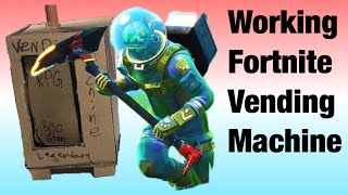 Machine de vente Fortnite de carton de travail