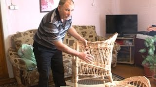Житель Кичменгского Городка создает мебель из береговой ивы