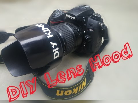 DIY Lens Hood for DSLR camera