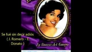 LIBERTAD LAMARQUE  - SE FUE SIN DECIR ADIOS -  TANGO