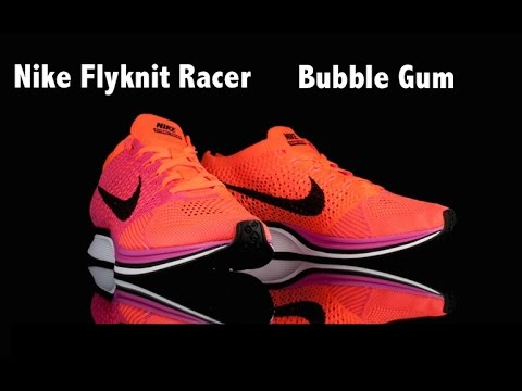 f53fe5a710653 Nike Flyknit Racer Pink Flash Black-Hyper Crimson - YouTube