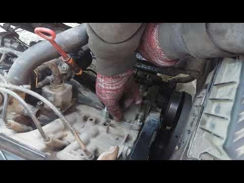 ремонт Passat b3 замена термостата и помпы