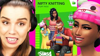 The Sims 4 Nifty Knitting First Look! - Trailer Reaction