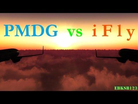 FSX HD 1080p - PMDG 737 NGX -vs.- iFly 737 NG !!!