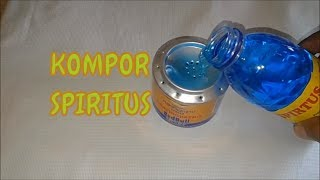 Cara Membuat Kompor Spiritus Sederhana dari kaleng Minuman.