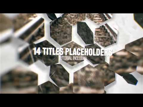 hexagon promo - after effects template - youtube, Presentation templates