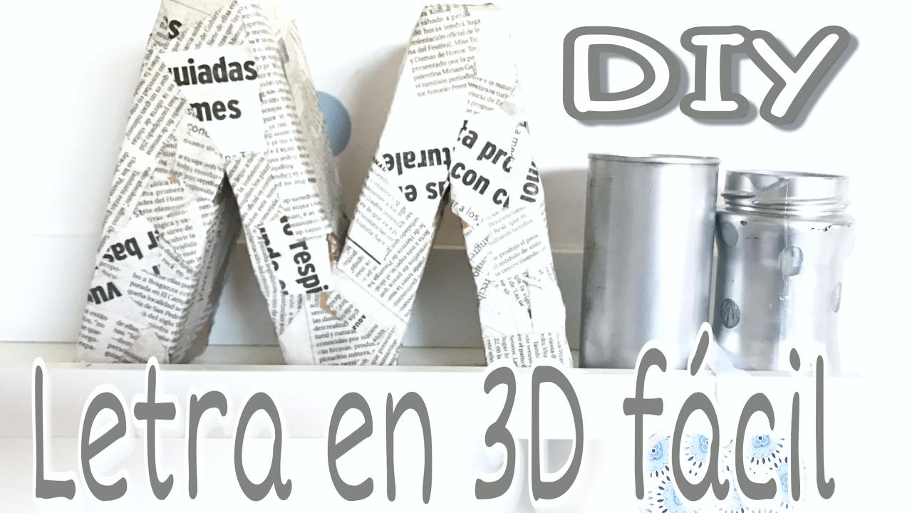 Diy decora tu cuarto con letras de cart n en 3d chul simas for Programa para hacer habitaciones en 3d