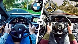 bmw 5 series 2017 m sport 540i vs mercedes benz e class e43 amg acceleration pov by autotopnl
