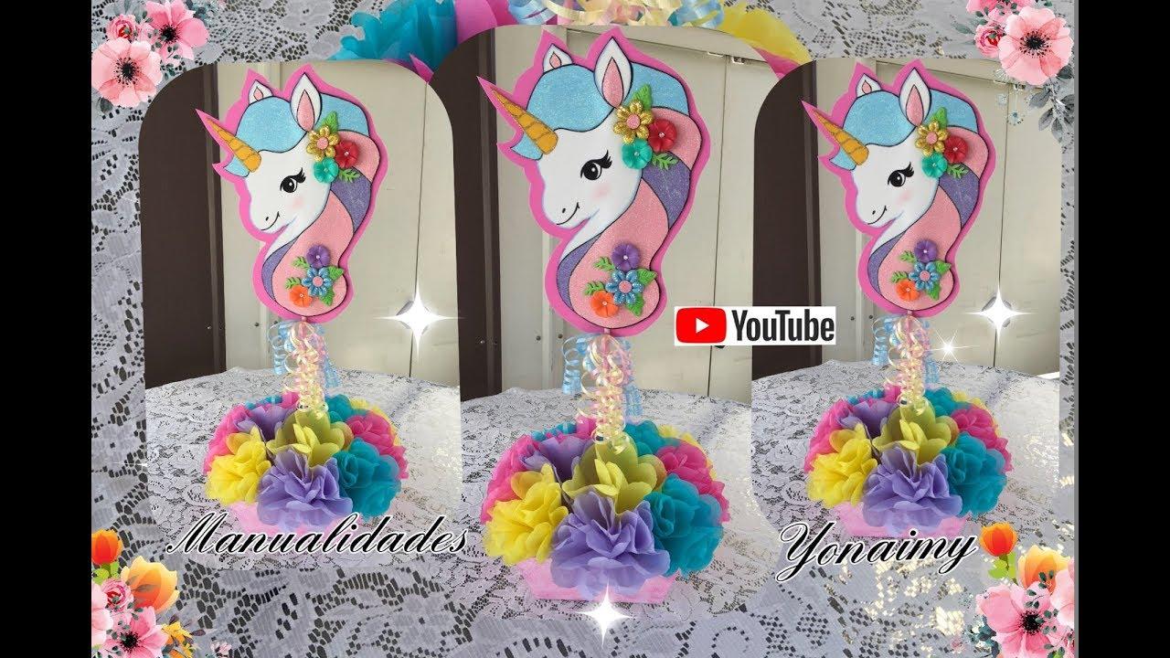 Centro De Mesa De Unicornio Unicorn Centerpiece Youtube