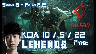 GRF Lehends PYKE vs RAKAN Support - Patch 8.15 KR Ranked