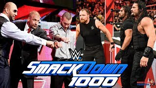 THE SHIELD Confronts EVOLUTION On SMACKDOWN LIVE 1000 | WWE Smackdown Live 1000 Highlights |Preview|