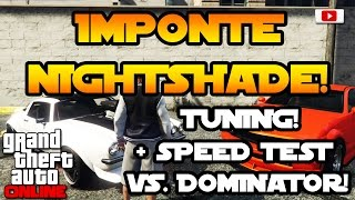 GTA 5 Online -  Imponte Nightshade Tuning + Speed Test! [Executives And Other Criminals Update]