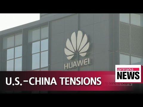 U.S.-China trade barbs over Huawei, South China Sea