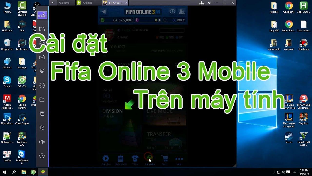 Hướng dẫn cài đặt Fifa Online 3 Mobile trên máy tính ✔