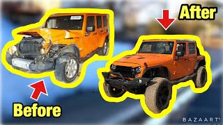 Download Rebuilding a Salvage Auction Frame Damage Jeep Wrangler JK In 10 Minutes Like THROTL Mp3 and Videos