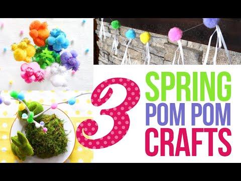 3-pom-pom-crafts-for-spring-decor-|-spring-decorate-with-me