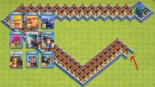 COC All Troops! Who Can Survive This Difficult Trap On COC? Trap VS Troops #coco5 |Chip GamePlays