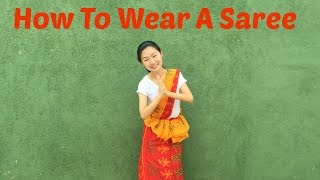 how to wear a saree   sri lanka with ivhq
