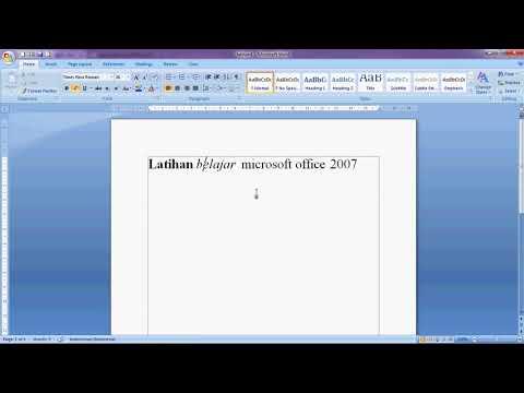 Download video tutorial microsoft office 2007 bahasa indonesia.