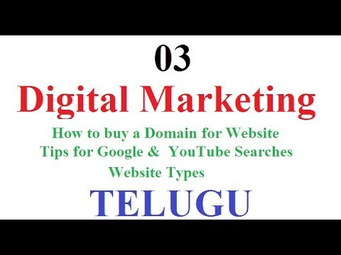 Digital Marketing Class 03 Telugu   How to buy Domain for Website Telugu   Tips for Google Searches