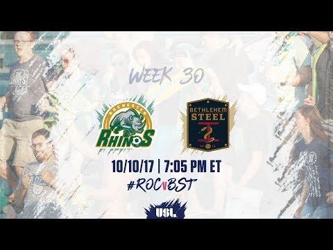 USL LIVE - Rochester Rhinos vs Bethlehem Steel FC 10/10/17