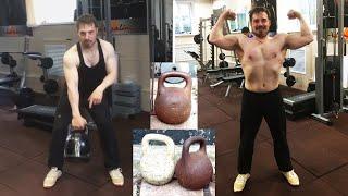 Упражнения с гирей для начинающих. Тренировки дома. Кирилл, 32 года. Учитель из Екатеринбурга