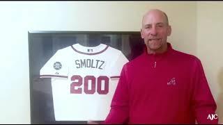 Glavine, Smoltz pay tribute to Hank Aaron