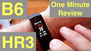 Baixar B6 (HR3) COLOR Screen IP67 Waterproof Continuous Heart Rate Smart Band: One Minute Overview