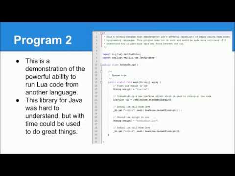 Programming Languages Presentation (Lua)