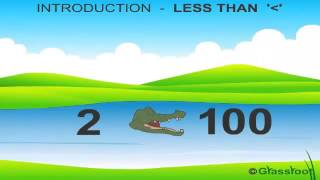 Less than Sign in Numbers | Pre-Primary Class Animated Video