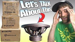 "Rockville K9 Subwoofer UPDATE: Discussing ""Will It Blow"" | CHEAP 12"" Destroyer Sub & Sundown SA Test"