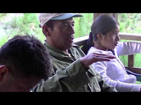 Samantha Jewel talking to farmers in guatemala 2014