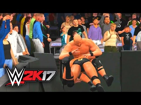 WWE 2K17 Gameplay - The Rock vs. Stone Cold (Extreme Rules) [WrestleMania 32] 1080p 60FPS