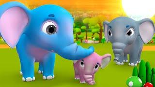 Real Mother of Baby Elephant Story हाथी बच्चे की असली माँ कौन हिन्दी कहानी 3D Kids Hindi Moral Tales