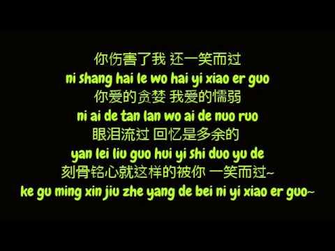那英 (Na Ying / Natasha Na) - 一笑而过 (Yi Xiao Er Guo) (Simplified Chinese / Pinyin Lyrics HD)