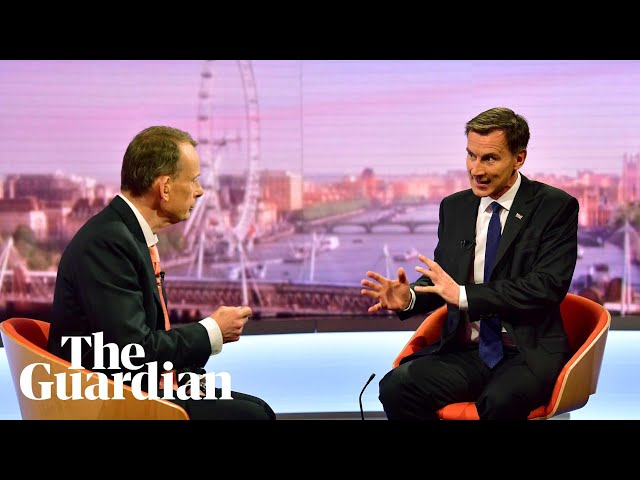 Jeremy Hunt: I would tell bust businesses no-deal Brexit was worth it