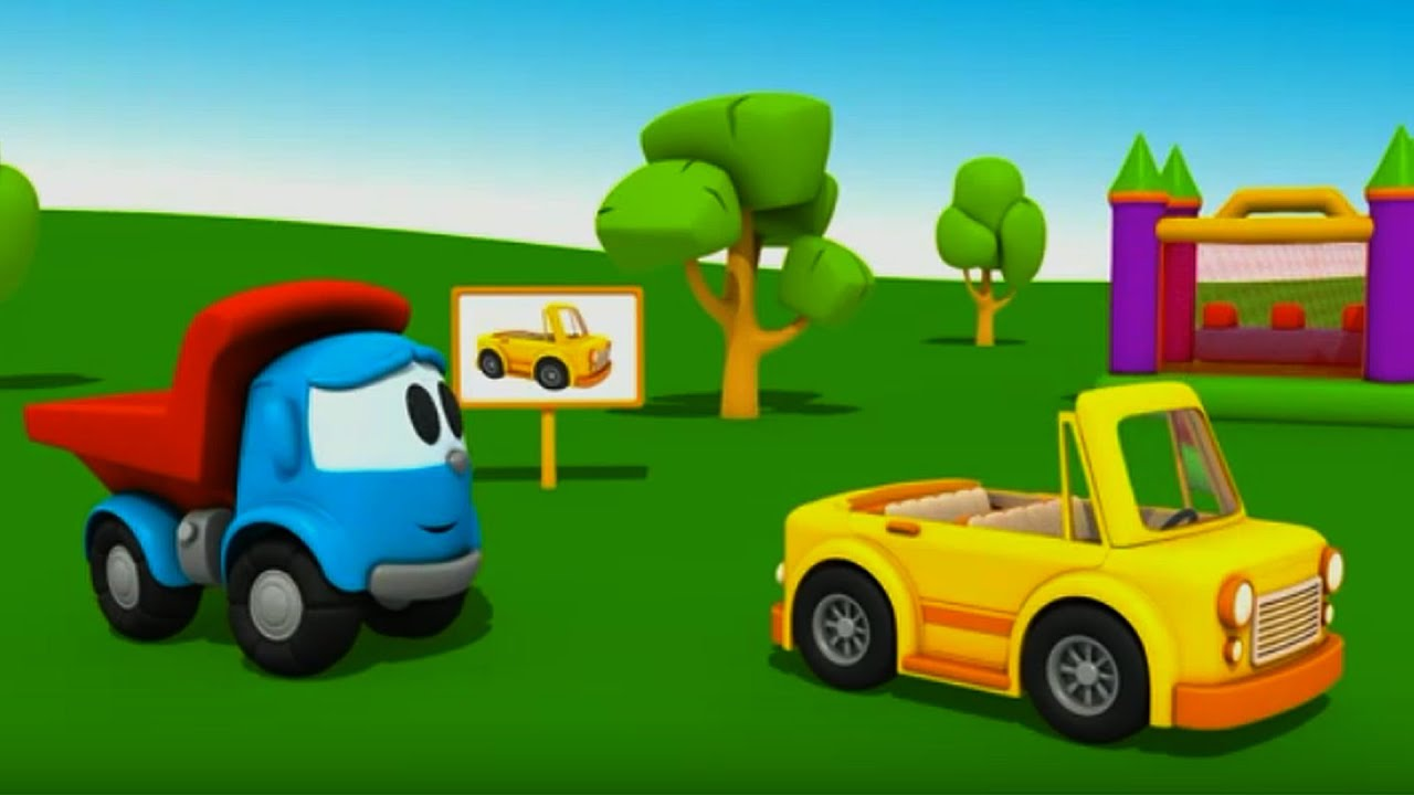 Leo el peque o cami n el coche convertible youtube for Coches para 3 sillas infantiles