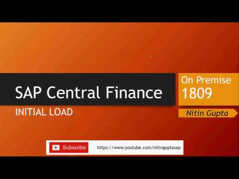 SAP Central Finance Initial Load